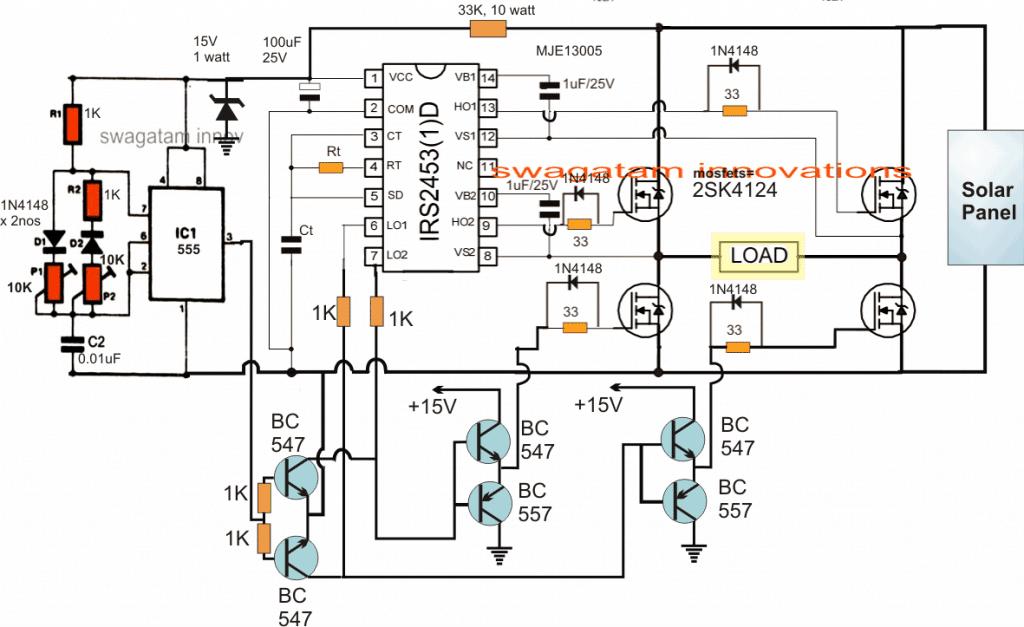 2kva solar inverter circuit pure sinewave