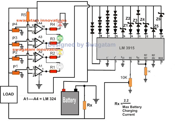 Battery Backup Time Indicator Circuit