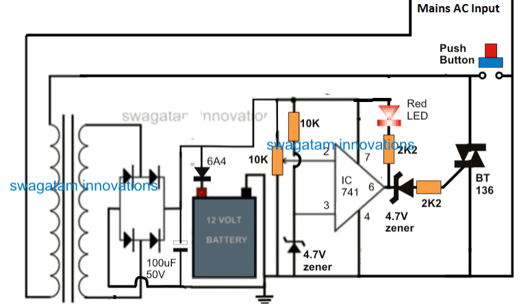 battery charger using TRIAC