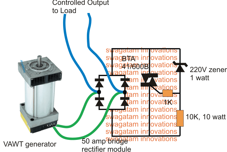 Simple Vertical Axis Wind Turbine Generator Circuit