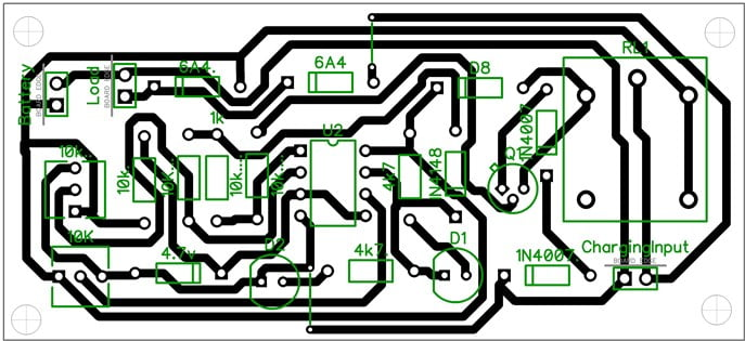 opamp high low battery charger PCB design