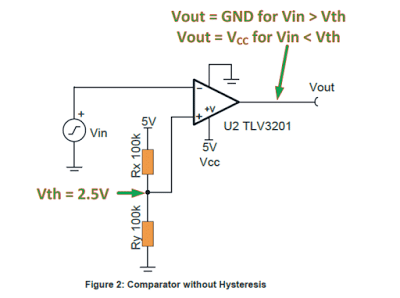 Opamp Hysteresis – Calculations and Design Considerations