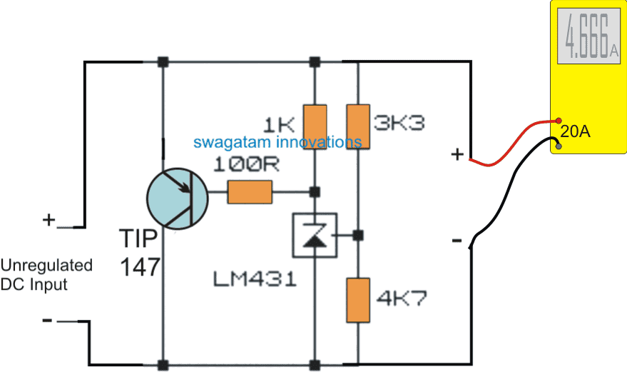 Circuit for Testing Alternator Current using Dummy Load