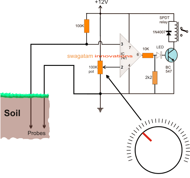 How To Make A Soil Moisture Tester Circuit With A Single