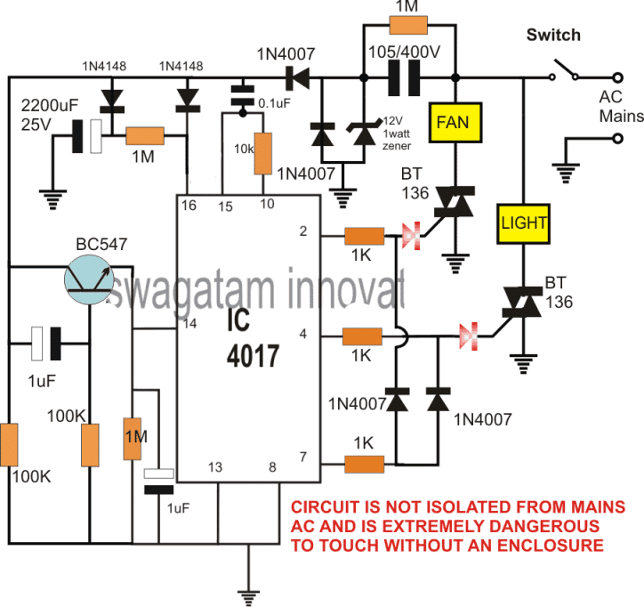 Electronic Switch without Push Button