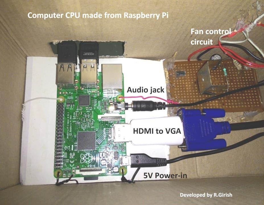 computer made using raspberry pi.
