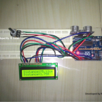 Ultrasonic Distance Meter Circuit Using Arduino and 16×2 LCD