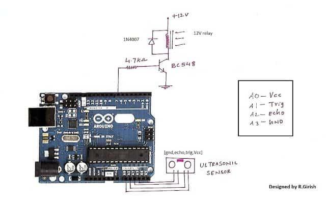 Ultrasonic Smart Automatic ON/OFF Switch Circuit