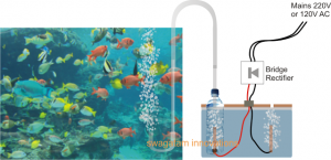 Fish Aquarium Oxygen Generator Circuit