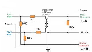 Passive Line Level Hafler Matrix Decoder