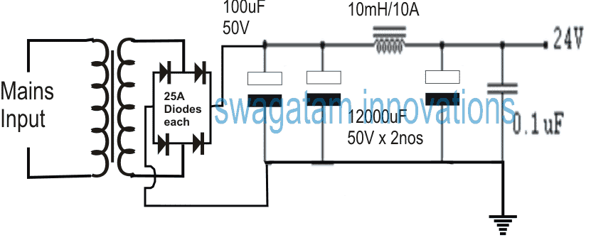 ingle mosfet class A power amplifier circuit is 18VAC and 160VA EI transformer