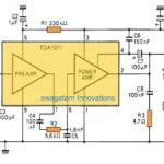 6 watt Audio Amplifier Circuit Using TDA1011