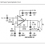 32 watt Amplifier Circuit using TDA2050