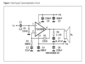 32 watt Amplifier using TDA2050