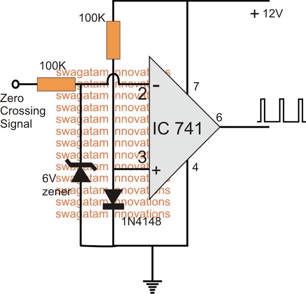 Zero Crossing Detector Circuit using opamp