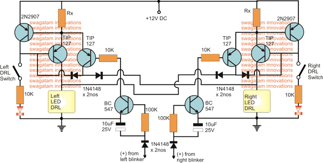 High Power DRL Light Circuit