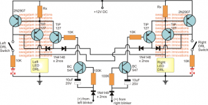 High Power DRL Light Circuit
