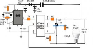 Make this LED Bulb Dimmer Circuit