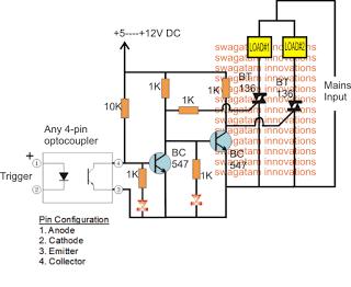 Triac SPDT Relay Circuit