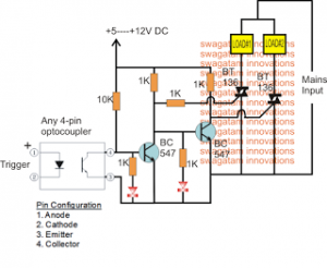 Triac SPDT Relay Circuit