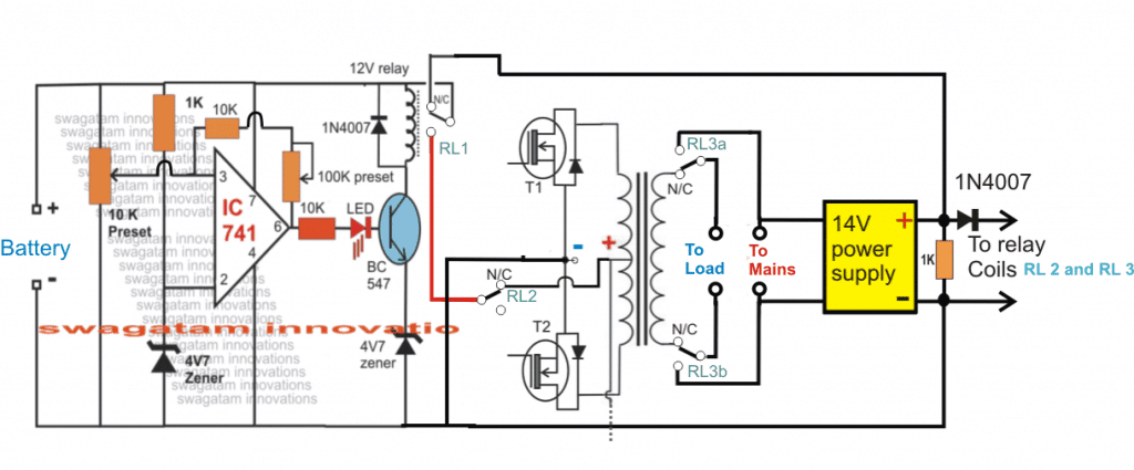 UPS automatic relay changeover
