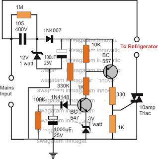 Simple Refrigerator Protector Circuit