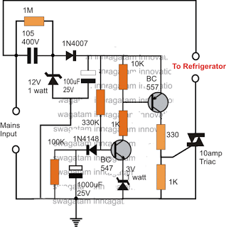 Simple Refrigerator Protector Circuit
