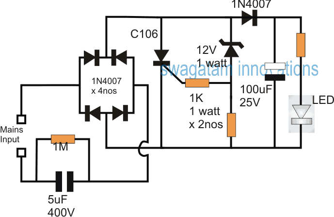 SCR Shunt Circuit for Protecting Capacitive LED Driver