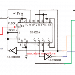 3-phase square wave generator circuit using IC 4015