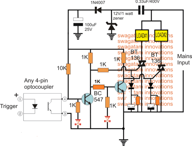 triac based solid state relay with delay