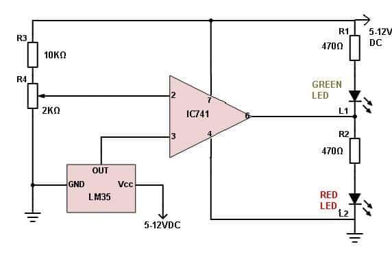 IC LM35 Temperature Sensor