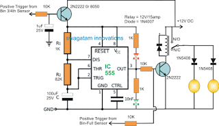 Beacon Level Indicator Circuit for Combine Harvester Grain Tanks