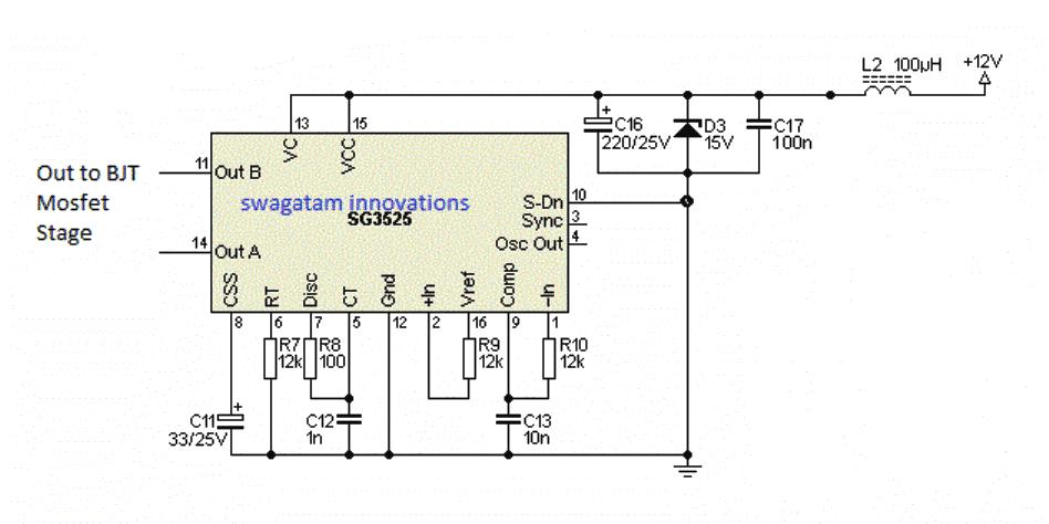 Simple IC SG3525 inverter configuration