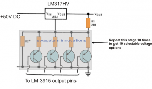 Push-Button Variable Power Supply Circuit – LM317 Application