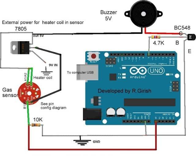 Arduino MQ-135 Air Quality Sensor Working and Interfacing