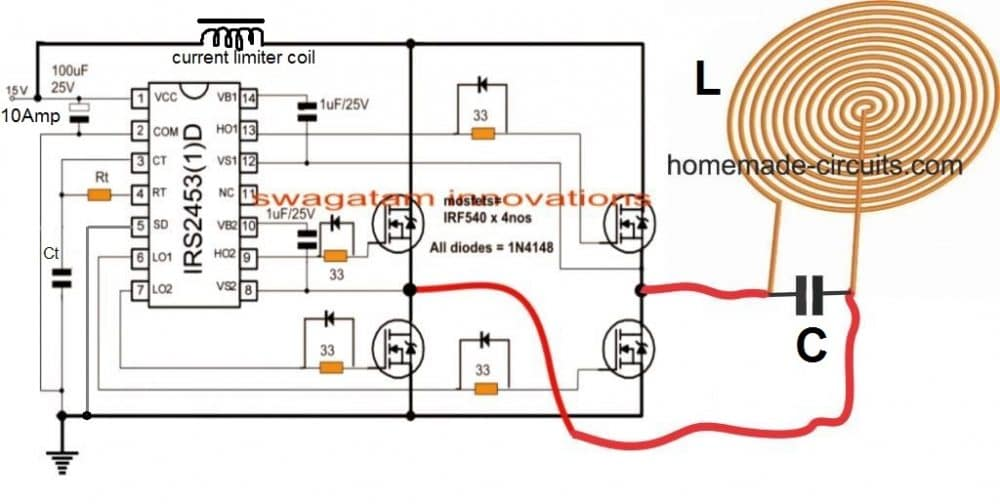 Induction Heater Induction Heater Circuit Diagram Induction Heater