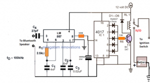 Bluetooth Car Ignition Lock Circuit