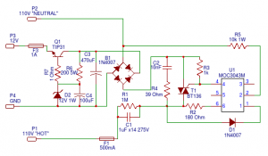 Capacitive Power Supply Circuit with Maximum Protection