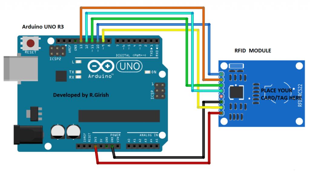 RFID Circuit using Arduino