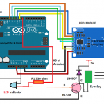 RFID Security Lock Circuit using Arduino
