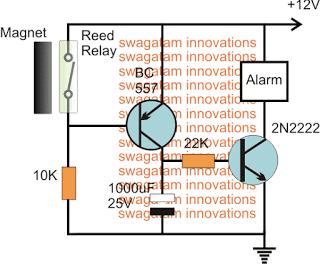 Security Door Alarm Circuit
