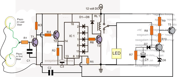 Make this Foot Activated Staircase Light Circuit