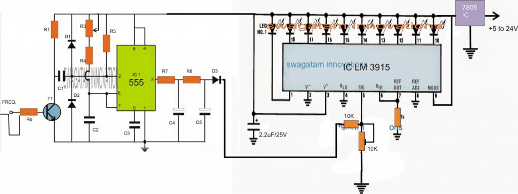 10 LED Tachometer Circuit
