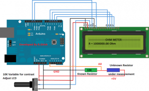 Simple Arduino Digital Ohmmeter