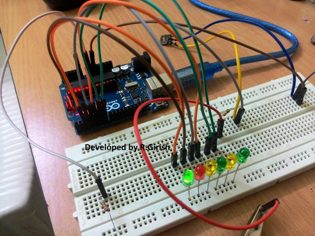 Arduino Battery Level Indicator Circuit