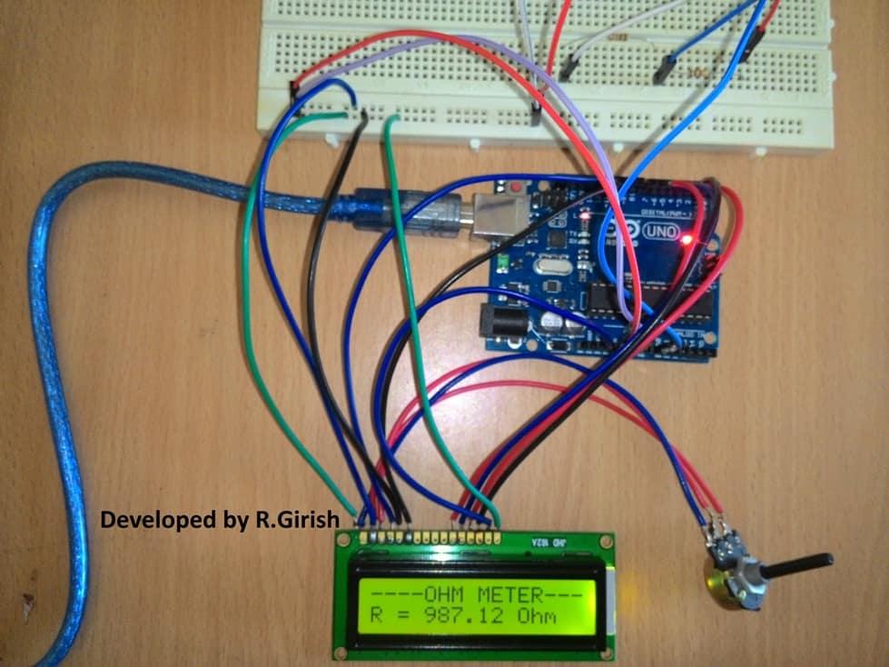 Arduino Digital Ohmmeter Prototype