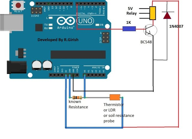 Simple Ohmmeter Circuit : Simple arduino digital ohmmeter circuit