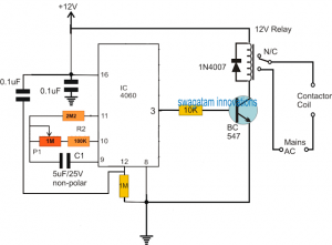 Submersible Pumpset Timer – Circuit Diagram and Working