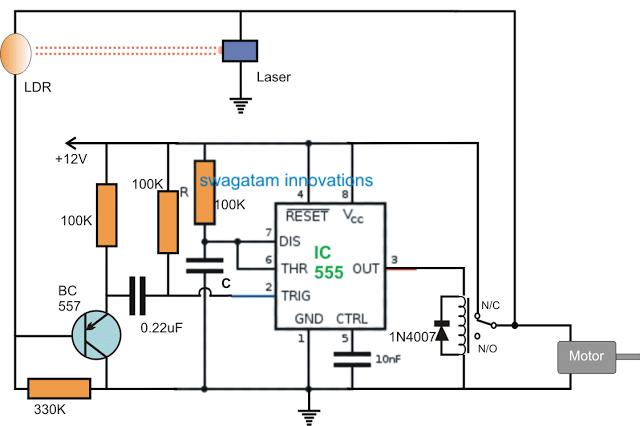 Material Storage Level Controller Circuit