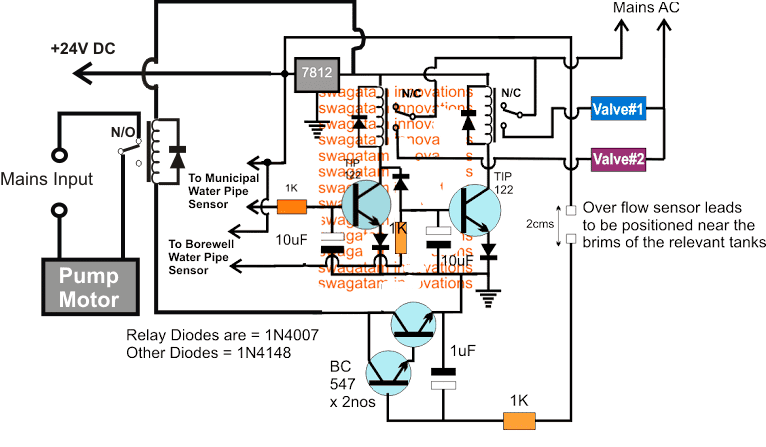 Two Pipe Water Pump Valve Controller Circuit